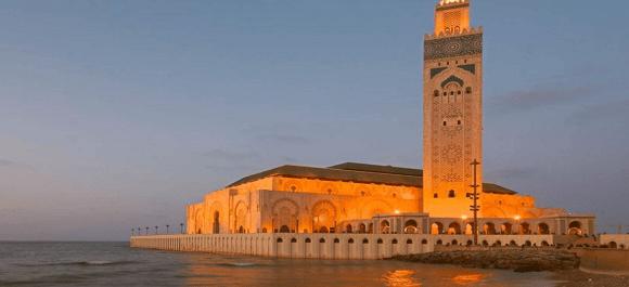 Una de las grandes maravillas de Marruecos la mezquita de Hassan II