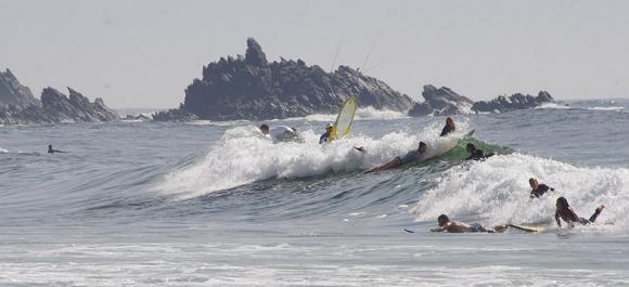 Una super playa para hacer surf en Marruecos