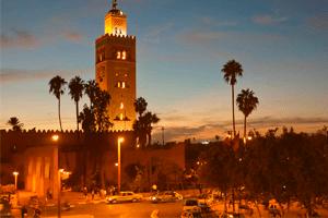La mezquita la Koutoubia, de las más bellas de Marruecos